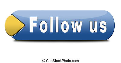 Follow us online and like to join our media network button or icon