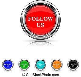 Follow us icon - six colours set