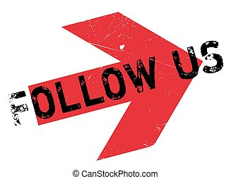 Follow us stamp