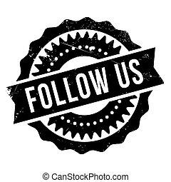 Follow us stamp