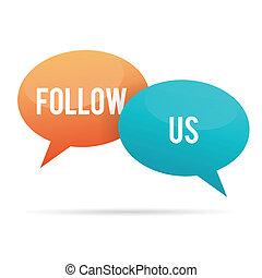 Follow Us Talk Bubble