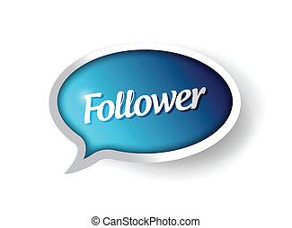 follower message communication bubble
