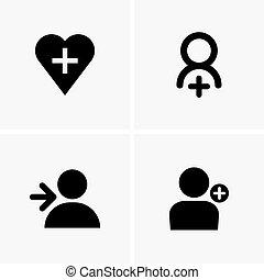Followers symbols - Set of followers symbols