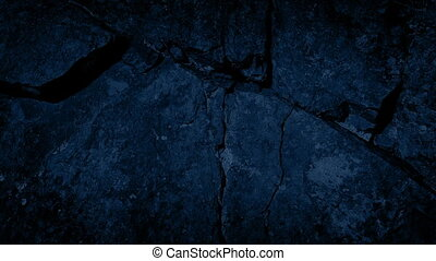 Following Crack In The Rock At Night - Tracking shot moving...