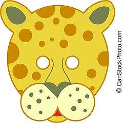 foltos, leopárd, maszk