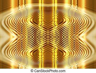 folyékony, elvont, arany, háttér