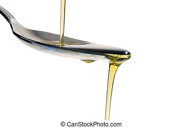 folyékony, olajbogyó, öntés, olaj