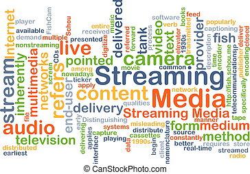 folyó, média, háttér, fogalom