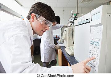fonctionnement, étudiant, science