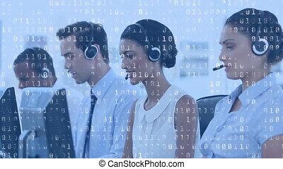 fonctionnement, appeler, agents, codes, centre, binaire