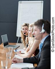 fonctionnement, business, collaboration
