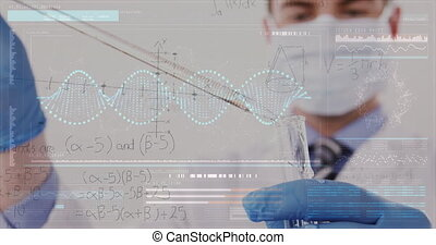 fonctionnement, chimiste, 4k, laboratoire