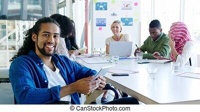 fonctionnement, moderne, bureau, creatives