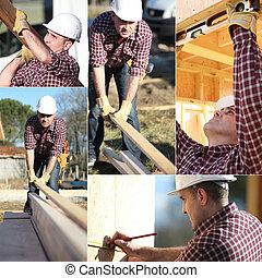 fonctionnement, montage, maison, constructeur, armature bois