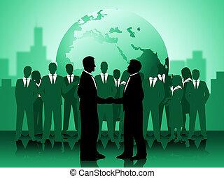 fonctionnement, moyens, globe, association, ensemble, la terre