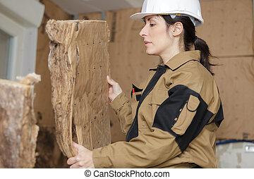 fonctionnement, ouvrier, conseils, isolation, femme