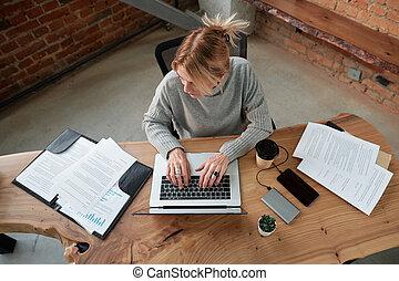 fonctionnement, papiers, bureau