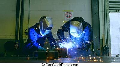 fonctionnement, robotique, ingénieurs, 4k, entrepôt