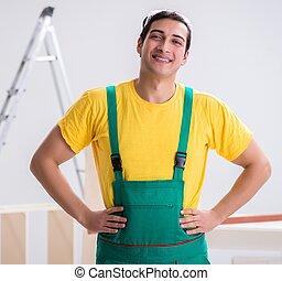 fonctionnement, site construction, ouvrier, entrepreneur