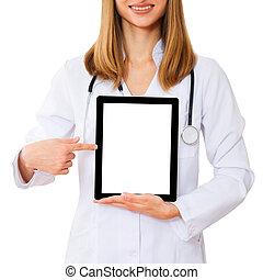 fonctionnement, tablette, docteur