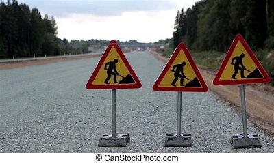fonctionnement, voitures, hommes, signe, autre, dépassement, côté, autoroute