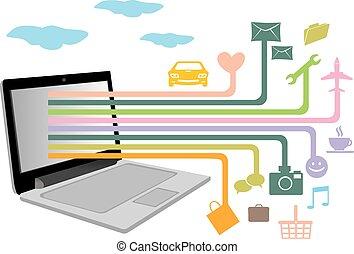 fonctions, moderne, quotidiennement, applications, vies, technologie