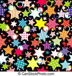 fond, à, étoiles, et, cercles