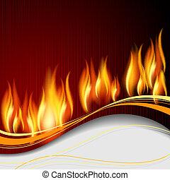 fond, à, flamme