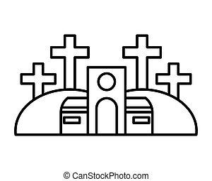 fond, église, catholique, blanc