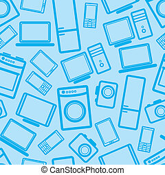 fond, électronique, seamless, appareils