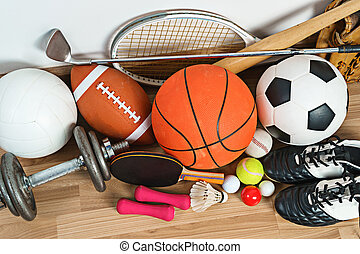 fond, équipement, bois, sports