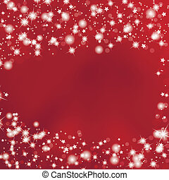 fond, étoiles, rouges