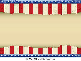 fond, américain, horizontal