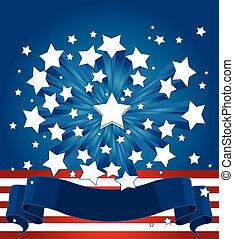 fond, américain, starburst