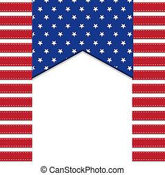 fond, américain, symbolizing, drapeau, 4ème, étoiles, ...