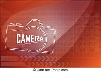 fond, appareil photo, conception, technologie, illustration.
