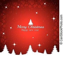 fond, arbre, joyeux, année, nouveau, noël, rouges, heureux
