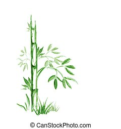 fond, arbre, résumé, bambou