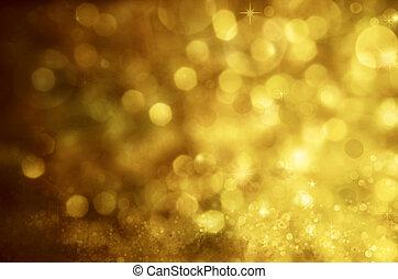 fond, arrière-plan., résumé, fête, lumières, bokeh, defocused, étoiles, noël
