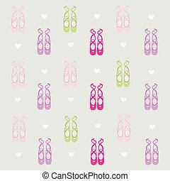fond, ballerine, chaussures