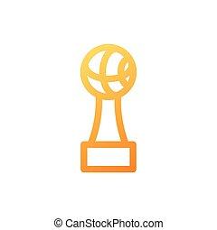 fond, basket-ball, trophée, blanc