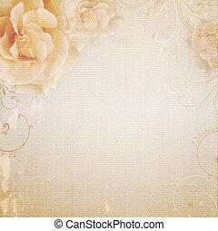 fond, beige, mariage, grunge