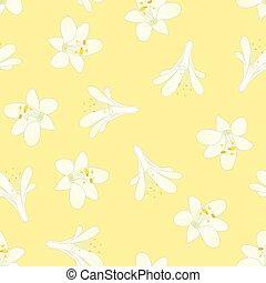 fond, blanc, agapanthus, neige, jaune