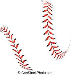fond blanc, boule base-ball