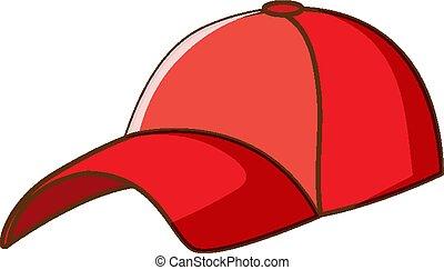 fond blanc, casquette, rouges