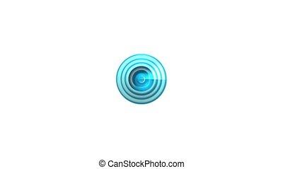fond, blanc, chargement, cercle, icône, animation