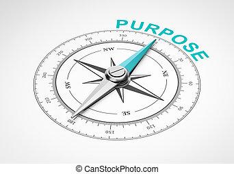 fond, blanc, concept, but, compas