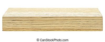 fond, blanc, isolé, bois, barre