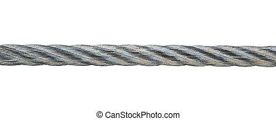 fond, blanc, métal, isolé, câble