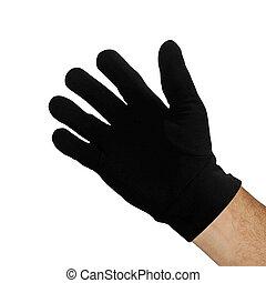 fond, blanc, noir, isolé, gant